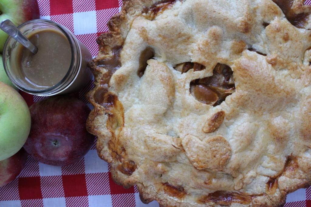 Coconut Dulce de Leche Apple Pie