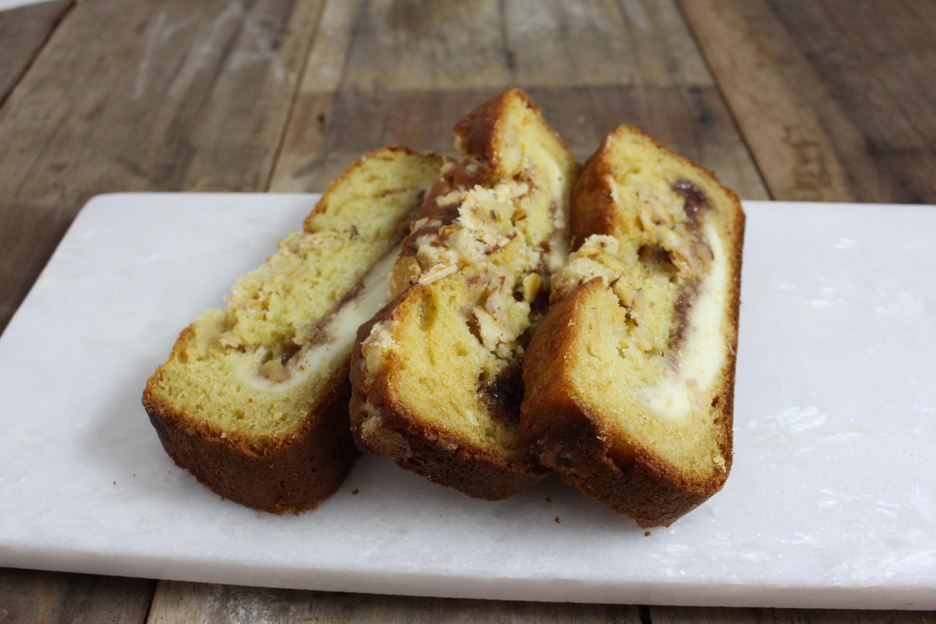 Raspberry Almond Lemon Cream Cheese Coffee Cake