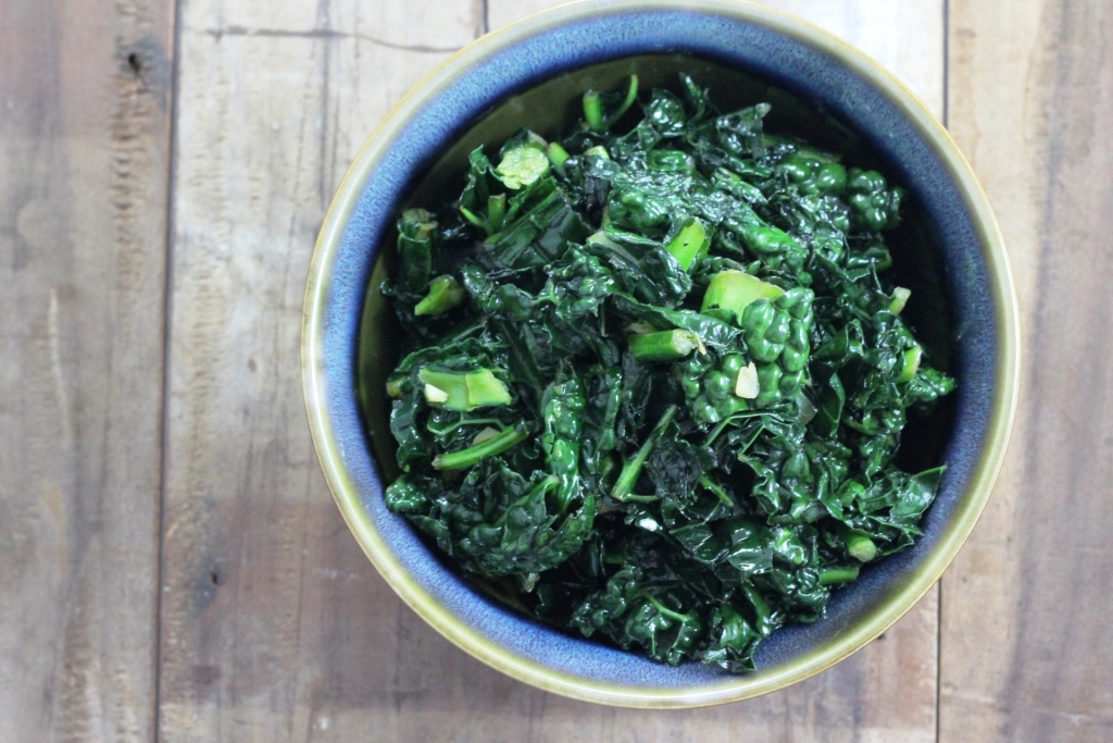 Sauteed Honey Garlic Kale